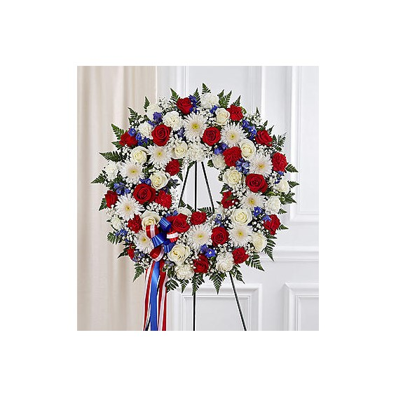 standing-wreath-all-red-white-blue-for-funeral-flowers
